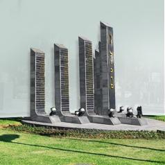 אנדרטאות וקירות תורמים
